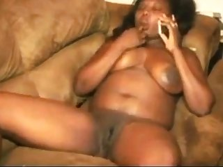 horny Haitian bitch having phone sex