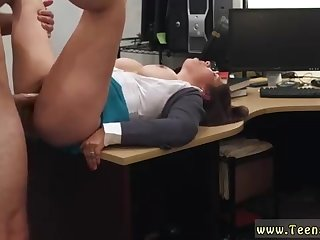 Obese lady is getting ravaged from the back, on her desk, instead of doing her job