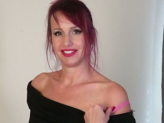 Amazing MILF with some tattoos Heather is ready to go solo to tease herself