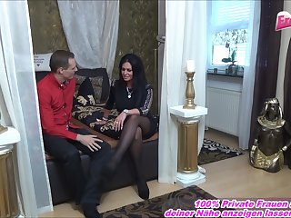 german amateur secretary mature milf with glass