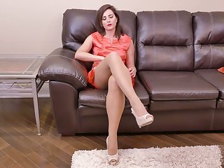 Lewd housewife Helena Price is finger fucking hairy and insatiable pussy