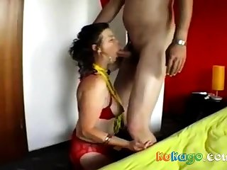 German mature takes from behind
