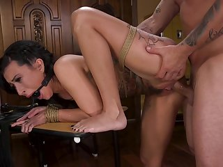 Lily Lane gets pussy demolished in rough maledom scenes