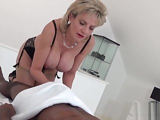 Adulterous english milf lady sonia flashes her massive hooters