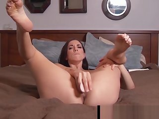 Penthouse Pet Jelena Jensen Holds Her Stocking Feet Up For U