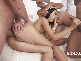 Megan Venturi Assfucked By Four Guys With Huge Cocks