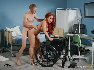 Redhead feels massive cock working her pussy in insane modes