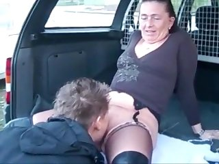 Mature Wife Dogging Pissing and Get Cum on Ass