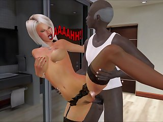 el cliente americano - interracial cartoon porn video