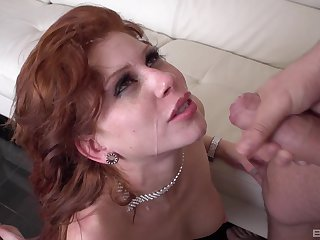 Sexy black costume on Brooklyn Leei's body makes her hornier than ever