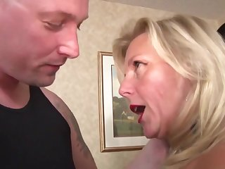 Mom Woman Catches Two Men In Her Horny Pussy