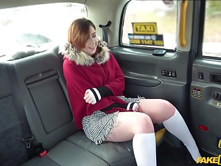 Horny Kitty Misfit adores when the driver fucks her badly in the taxi