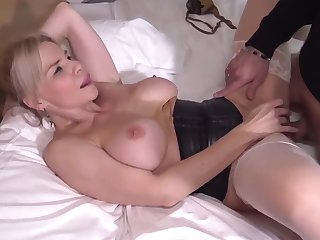 Blonde mature analized and facialed