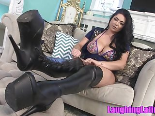 Hot latina mistress in sexy boots - femdom solo