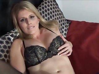 Hot stepmom in lingerie hardcore fucking