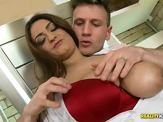 Cock riding action with gorgeous Sandra Milka