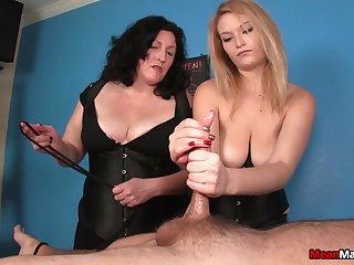 Two sluts with big tits flash and pleasure one tattooed dude