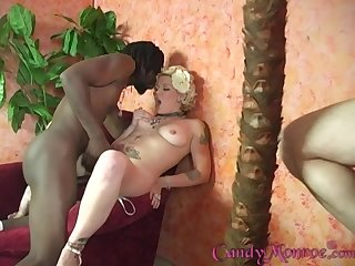 Candy Monroe loves to pleasure black guys in front of her husband