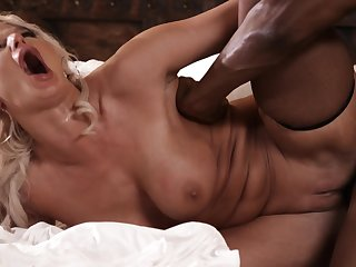 Slinky Big Tit Mature Gets Copulated By Big Black Cock - isiah maxwell