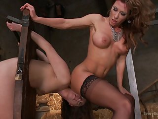 Exclusive lesbo porn for two women needy to come