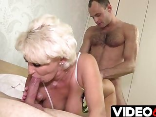 Polish blonde love two hard cocks