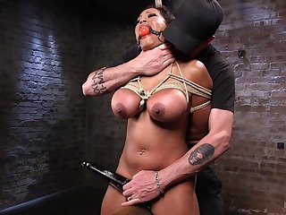 Busty woman plays obedient in the face of her master's cock