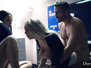 Gabbie and Angela Insane Threesome Sex