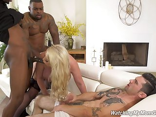Anal-loving Alura Jenson's cuckold fuck with two fabulous black lovers