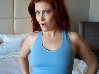 This red haired mature slut loves yoga and sex and she's got a slim body