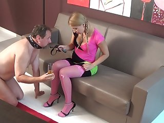sadistic glamour girls slapping slaves