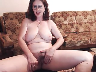 Russian mature Skype strip play