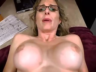 Son took dad's pills and fucks stepmom Cory Chase