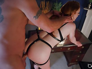 Sweet babe plays obedient for her master and provides pure BDSM