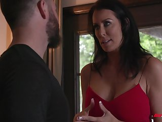 Mature wife Reagan Foxx with large ass and boobs cheating on her hubby