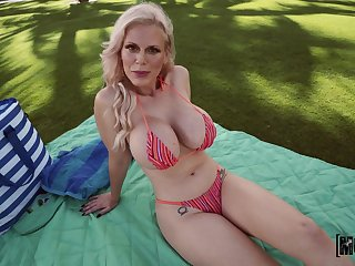 Blonde mature gets the dick in a flawless POV
