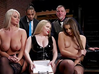 Aiden Starr is a masterful sexy mistress who gets off on punishing slaves