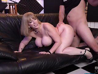 Sara Jay gives interview and gets fucked