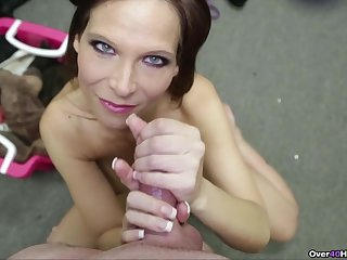 Hot mature wants to make this dick explode in her hands