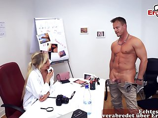 German female doctor nurse seduced