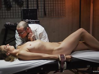 Domineering mad doctor puts his biddable patient's body to the test