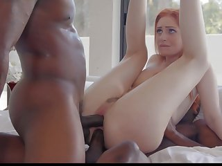 Kinky white Maya Kendrick is happy to work on fat strong BBCs