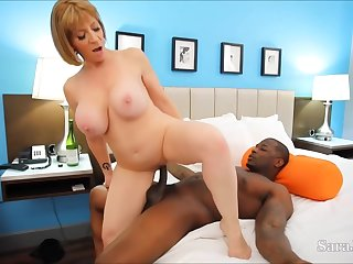 Busty milf, Sara Jay has a thing for handsome, black guys and their rock hard cocks
