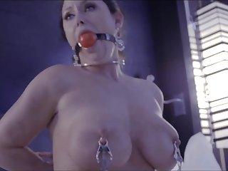 Busty Housewfe Self Bondage Fetish Porn