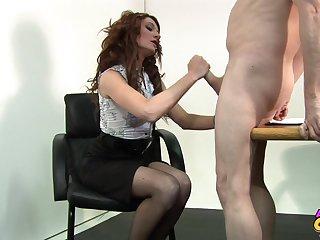 Hot ass secretary Nikita Law lets her boss fuck her wet pussy