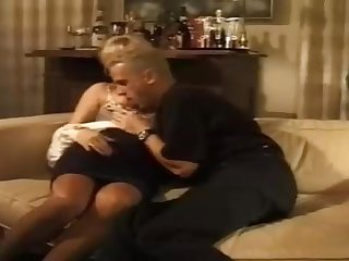 Mature German gal with platinum-blonde hair is boinking a junior boy she enjoys a bunch