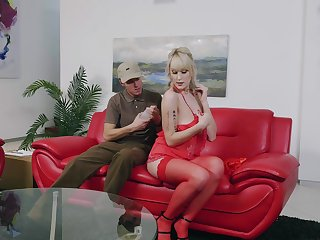 Blonde Maxim Law gets brutally fucked by her postman