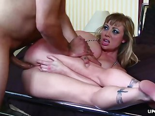 Slutty blonde cock sucker, Adrianna Nicole got a hardcore assfuck