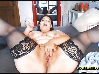 Italian milf fucks say no to tight ass and cunt by say no to favorite dildo