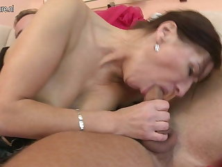 Hot mature MOM fucked by her young boy