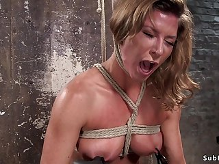 Busty Tits slave rough vagina and booty had intercourse